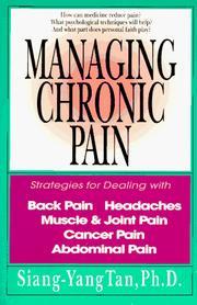 Cover of: Managing chronic pain