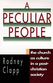 Cover of: A peculiar people