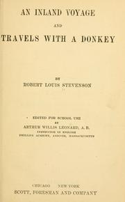 Cover of: An  inland voyage and Travels with a donkey | Robert Louis Stevenson