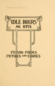 Cover of: Idle hours ... | Edward Lee Roy Allen