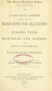 Cover of: The great northern route. | Ontario and St. Lawrence steamboat company