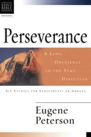 Cover of: Perseverance | Eugene H. Peterson