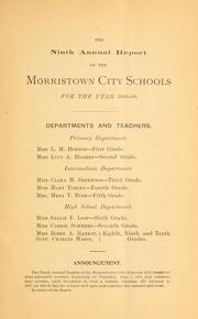 Cover of: Annual report... | Morristown, Tenn. Board of education
