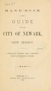 Cover of: Hand book and guide for the city of Newark, New Jersey |