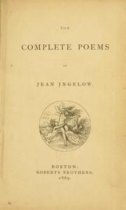 Cover of: The complete poems | Jean Ingelow