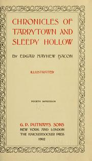 Cover of: Chronicles of Tarrytown and Sleepy Hollow | Edgar Mayhew Bacon