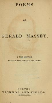 Cover of: Poems by Gerald Massey | Gerald Massey