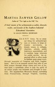 Cover of: Martha Sawyer Gielow | Lillian Rozell Messenger