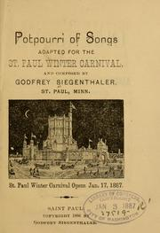 Cover of: Potpourri of songs adapted for the St. Paul winter carnival ... | Godfrey Siegenthaler