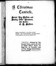 Cover of: A Christmas canticle, saints