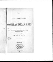 Cover of: An egg check list of North American birds |