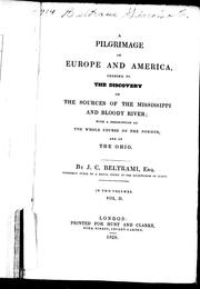 Cover of: A pilgrimage in Europe and America leading to the discovery of the sources of the Mississippi and Bloody River