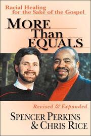 Cover of: More than equals | Spencer Perkins