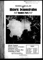 Cover of: Historic demonstration, Dundurn Park |