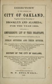 Cover of: Directory of the township and city of Oakland by B. F. Stilwell