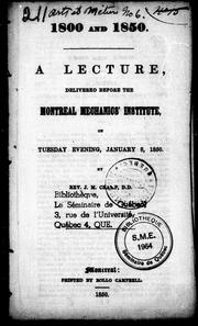 Cover of: 1800 and 1850 |