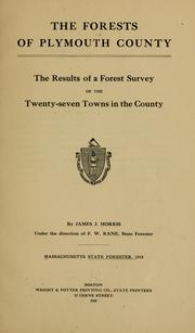 Cover of: forests of Plymouth County | Massachusetts. State forester
