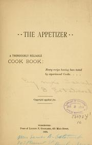 Cover of: The appetizer | Estabrook, Sarah B. Mrs