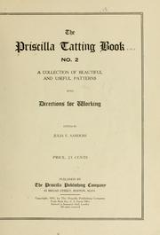 Cover of: The Priscilla tatting book ... |