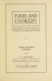 Cover of: Food and cookery | Hans Steele Anderson
