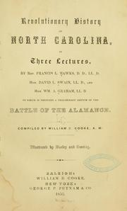 Revolutionary history of North Carolina by