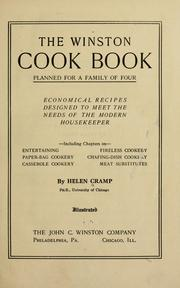 Cover of: The Winston cook book, planned for a family of four by Helen Cramp