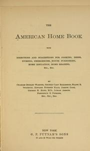 The American home book
