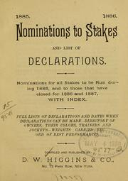 Nominations to stakes and list of declarations.