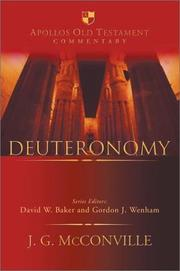 Cover of: Deuteronomy | J. G. McConville