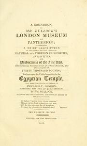 Cover of: A companion to Mr. Bullock's London Museum and Pantherion |
