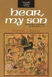 Cover of: Hear, my son