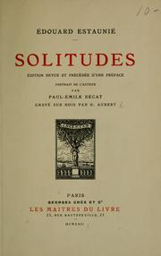 Cover of: Solitudes