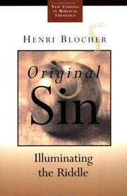 Cover of: Original Sin | Henri Blocher