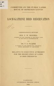 Cover of: Loch-Katrine bird reservation. | United States. Congress. House. Committee on Public Lands