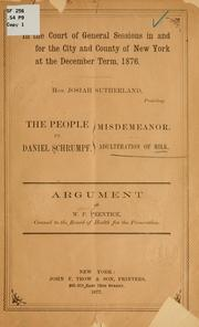 Cover of: The people vs. Daniel Schrumpf. | William Packet Prentice