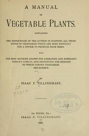 A manual of vegetables plants.