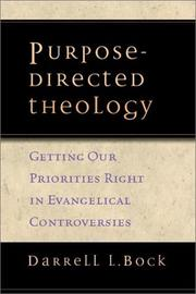 Cover of: Purpose-Directed Theology