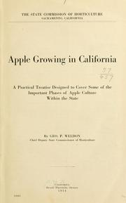 Cover of: Apple growing in California | California. State commission of horticulture