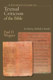 Cover of: A Student's Guide to Textual Criticism of the Bible