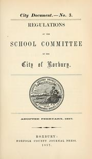 Cover of: [City documents, 1847-1867] | Roxbury (Boston, Mass.). Municipal government.