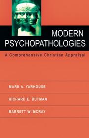 Cover of: Modern Psychopathologies | Mark A. Yarhouse