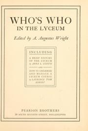 Cover of: Who's who in the lyceum by