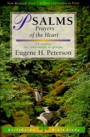 Cover of: Psalms Prayers of the Heart (Lifeguide Bible Studies) | Eugene H. Peterson