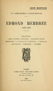 Cover of: Edmond Membrée, 1820-1882