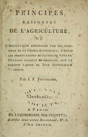 Cover of: Principes raisonnes de l'agriculture