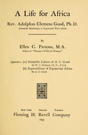 Cover of: A life for Africa | Ellen C. Parsons