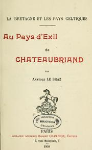 Cover of: Au pays d'exil de Chateaubriand