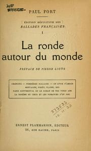 Cover of: La ronde autour du monde. by Paul Fort