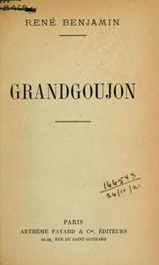 Cover of: Grandgoujon