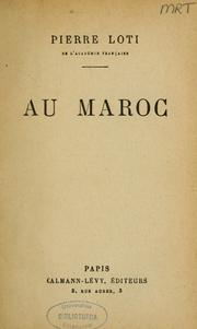 Cover of: Au Maroc by Pierre Loti